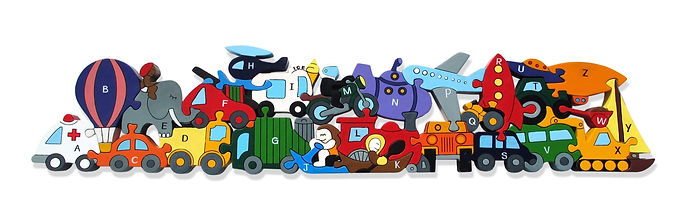 Alphabet Transport - alphabet Jigsaws