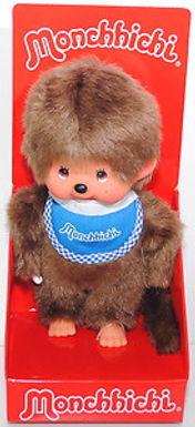 MONCHHICHI 20 cm Boy with bib Blue