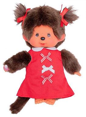 MONCHHICHI 20 cm Girl Red Ribbon Dress