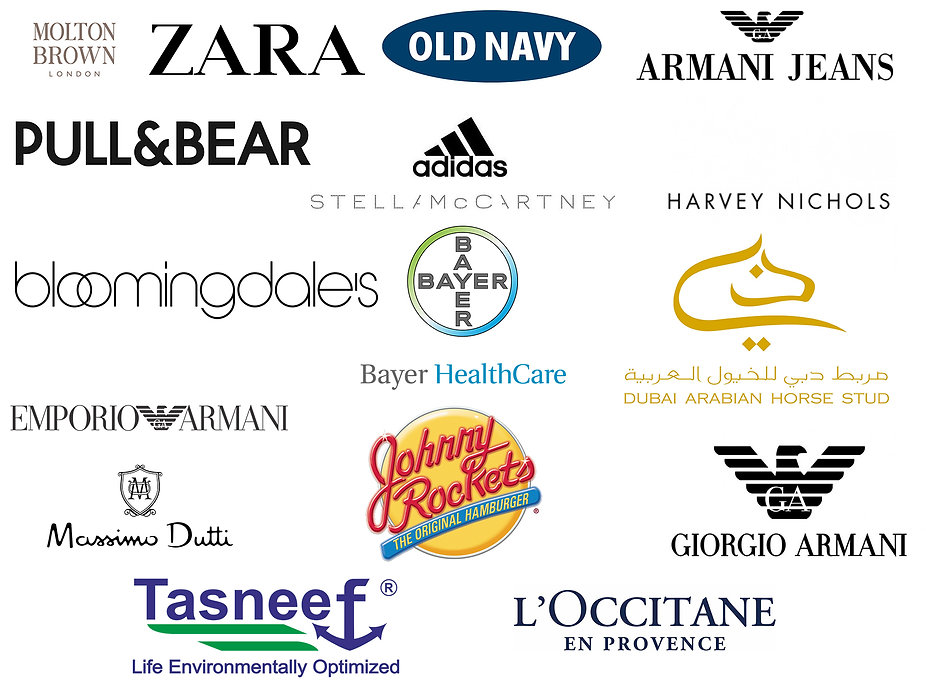 Molton Brown , Zara , Old Navy , Armany jeans , pull and bear , adidas , photobooth dubai , bayer middel east , tasneef , spark digital , gl events , dmg events , emporio armani , harvey nichols