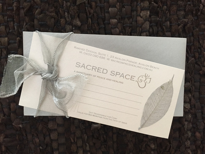 Sacred Space Christmas Gift Voucher