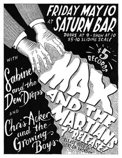 """Max and the Martians 7"""" release poster"""