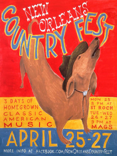 Poster for New Orleans Country Fest 2017