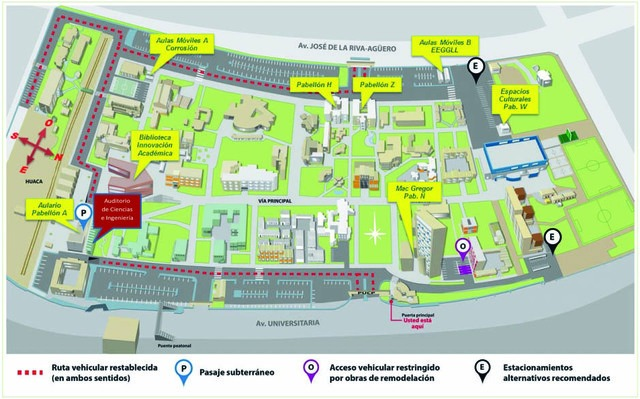 Mapa del evento