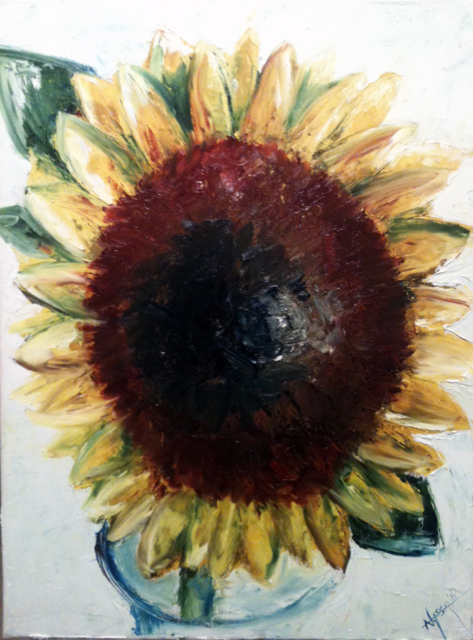 Pallet knife sunflower