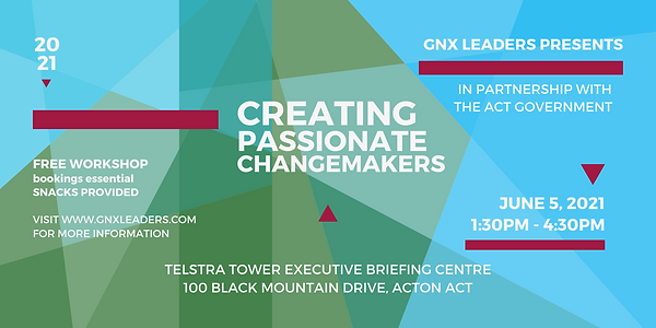 Creating Passionate Changemakers Flyer E