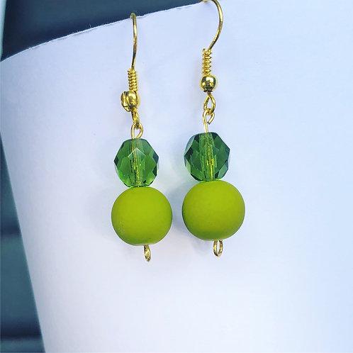 Olive Dangle Earrings