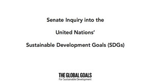 Strategic Sustainability Consultants Submits Recommendations to Senate on Global Goals