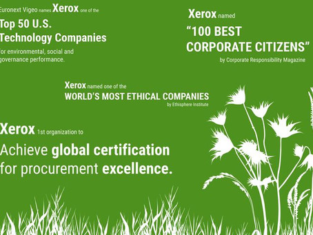 Xerox 2018 Global Corporate Social Responsibility Report Showcases Commitment to Sustainability, Soc