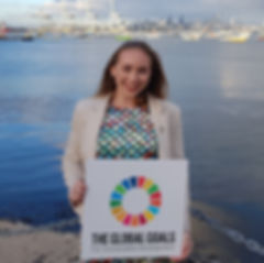 Caterina Sullivan with the Global Goals
