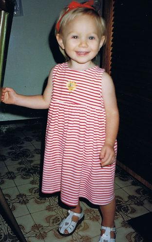 Caterina Sullivan as a child