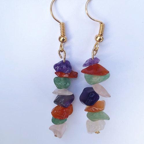 Natural Stone Dangle Earrings