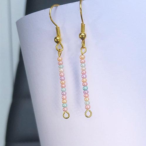 Pastel Mini Pearl Dangle Earrings