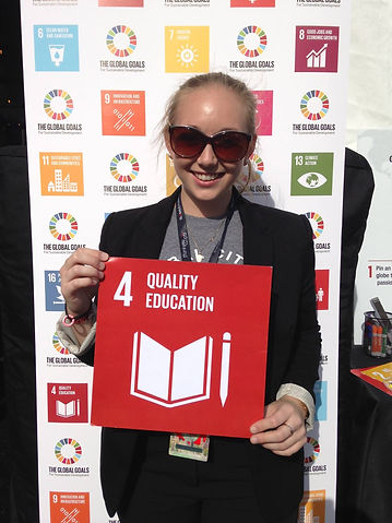 Caterina Sullivan supporting Goal 4 of the Global Goals - Quality Education