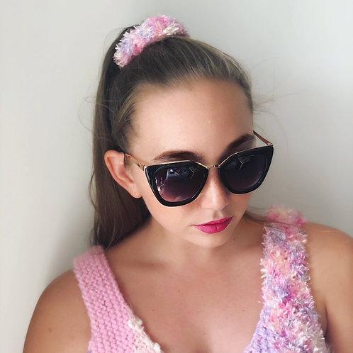 Pink Pastel Textured Scrunchie