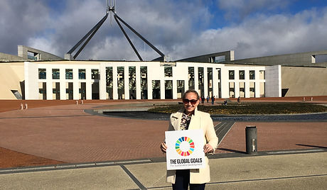 CEO Caterina Sullivan promoting the Global Goals at Parliament House