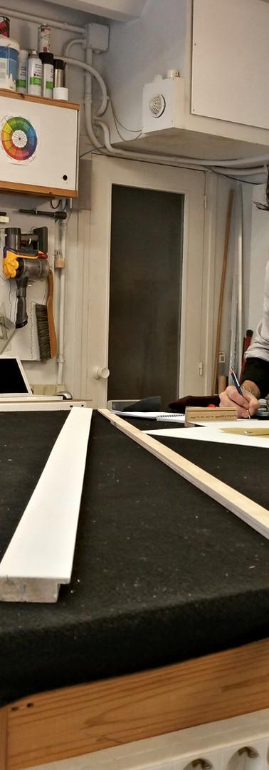 El Taller-taller donde hago los marcos