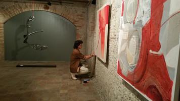 Montaje de la exposición Vernis
