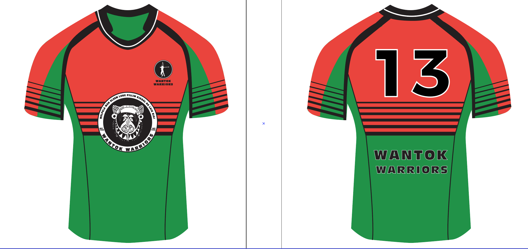 Wantok Warriors rugby jersy