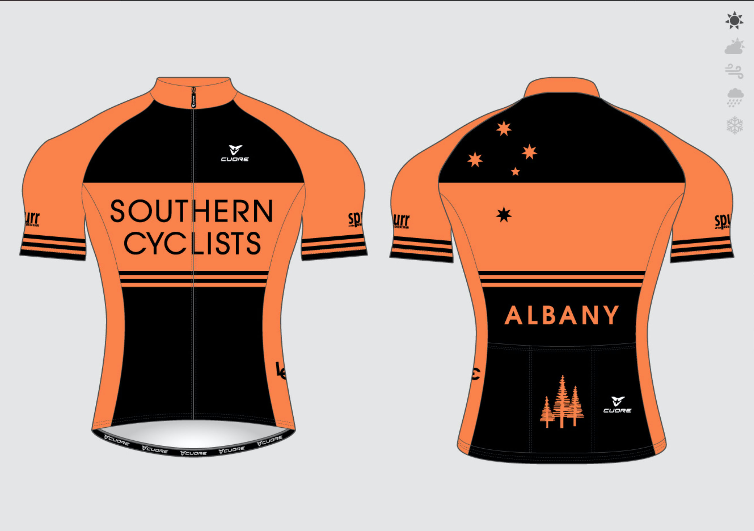 Cycling jersey Orange
