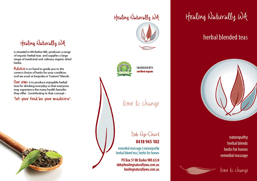tea brochure trifold