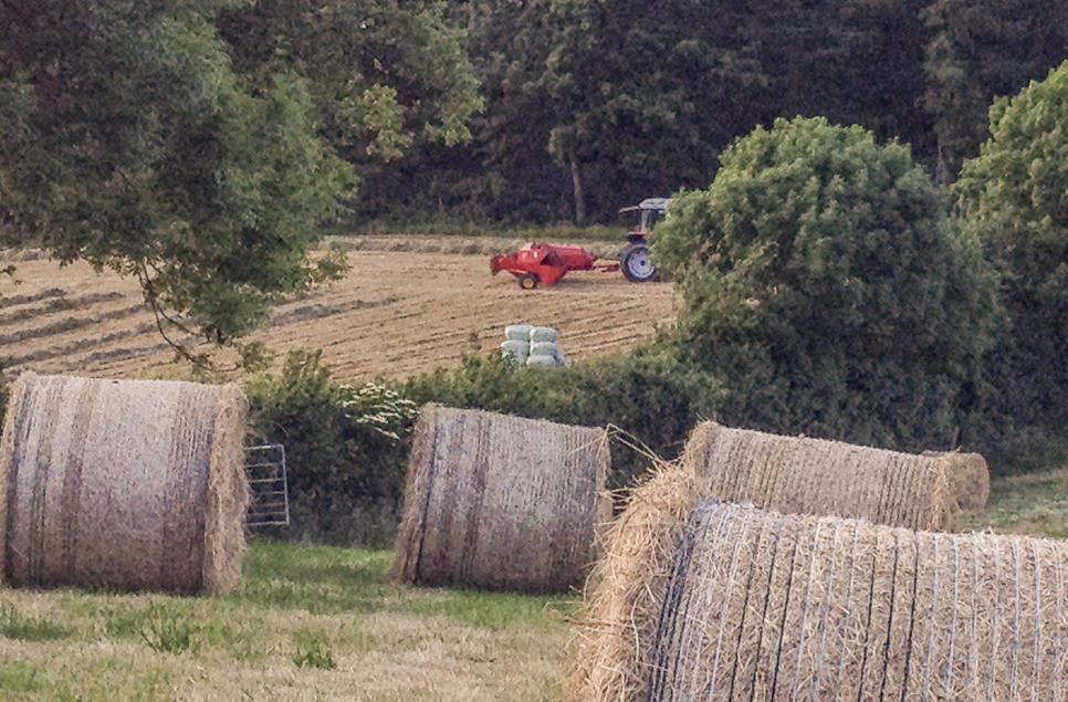 Baling on the farm