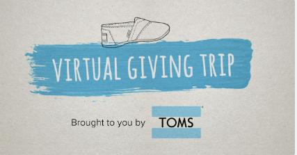 Viva a experiência de doação TOMS