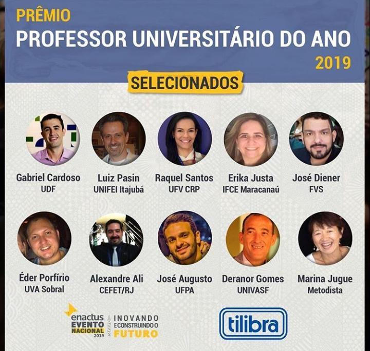 Professor Universitário do Ano - Prêmio Enactus Tilibra