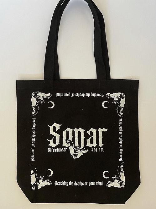 Sonar Canvas Tote Bags (Black)