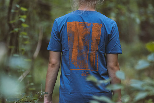 T-shirt I LIVE THE NATURE BLUE