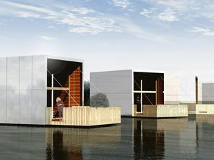 Projet fou de construction sur un lac