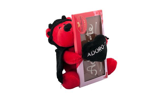 Tablete personalizada com ursinho peluche