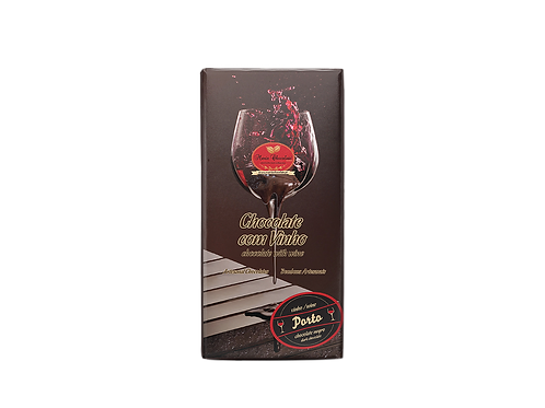 Tablete de Chocolate com Recheio de Vinho