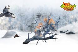 Jesperpus game. In winter.