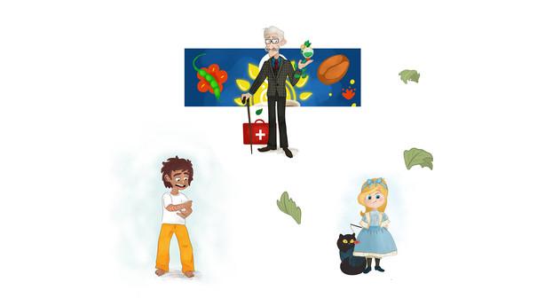 cartoon kids art