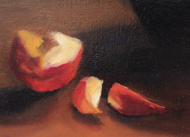 Nectarines in Glass - Detail 2