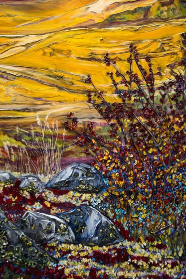 Hills of Dechen la - Detail 2
