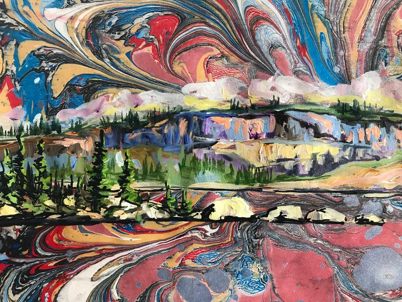 Big Lake Reflections - Detail 2