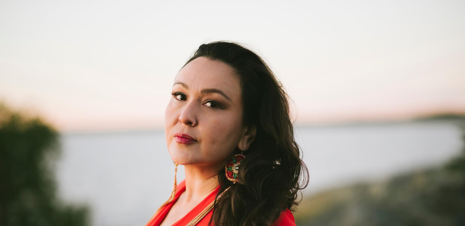 Leela Gilday - Red Dress Headshot