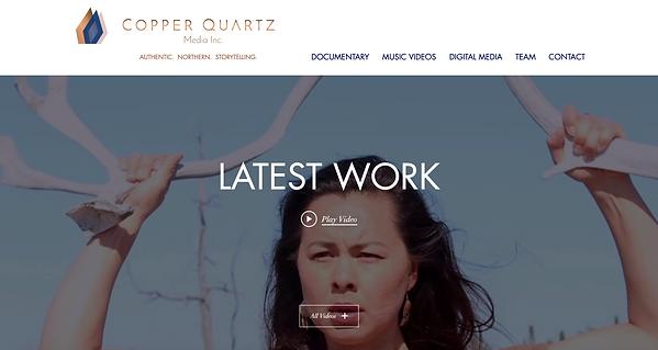 Home page of Copper Quartz.