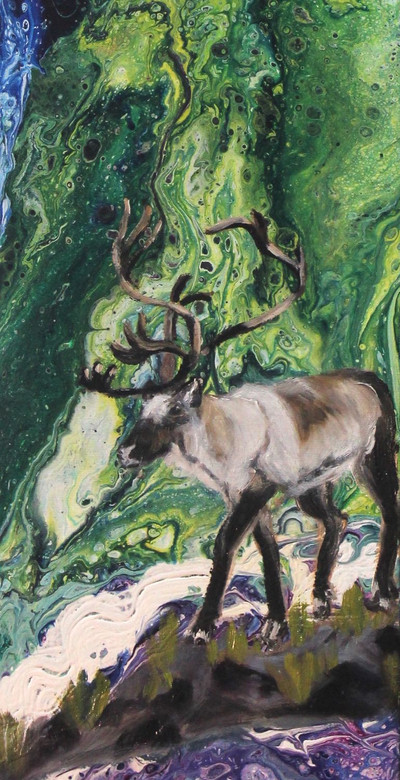 Caribou Under the Lights - Detail