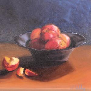 Nectarines in Glass