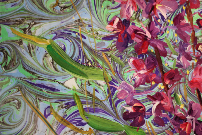 Fireweed and Bee - Detail 2