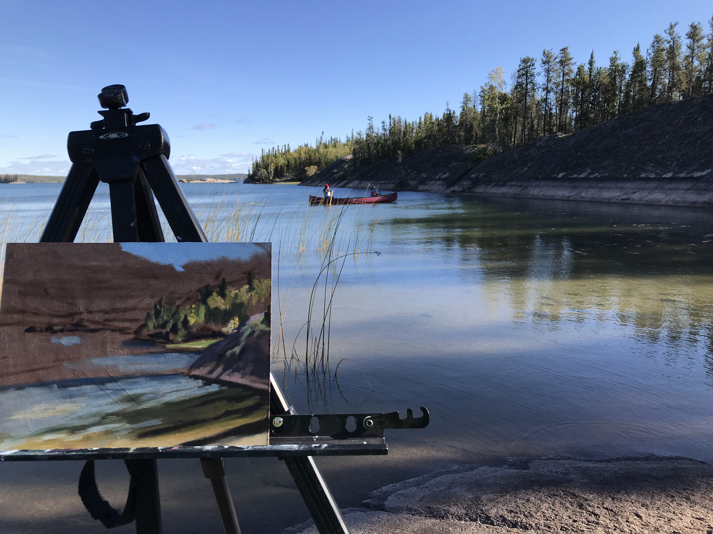 Blachford Painting and Canoe