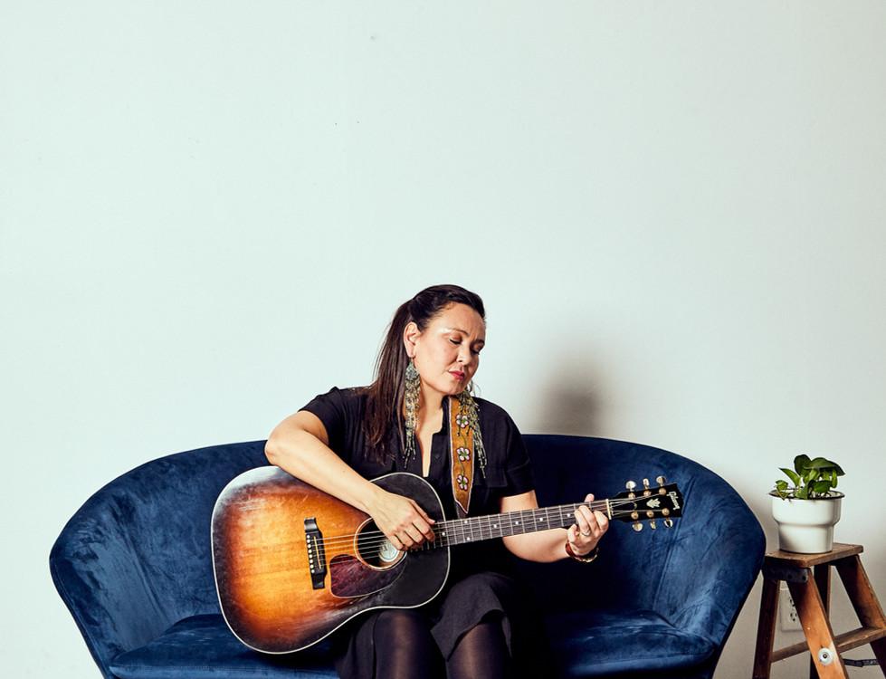 Leela Gilday Blue Couch