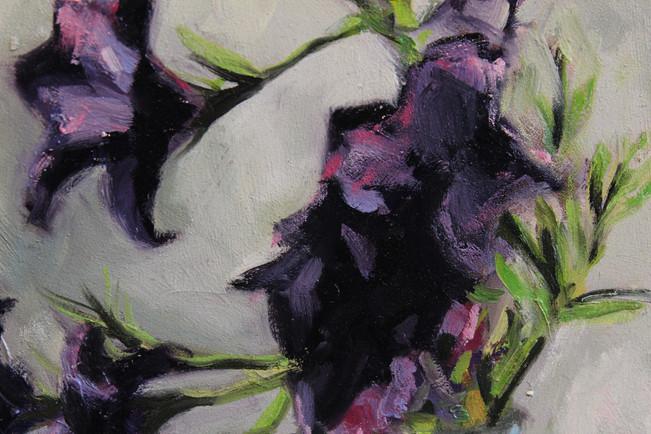 Purple fFowers in Glass - Detail 1