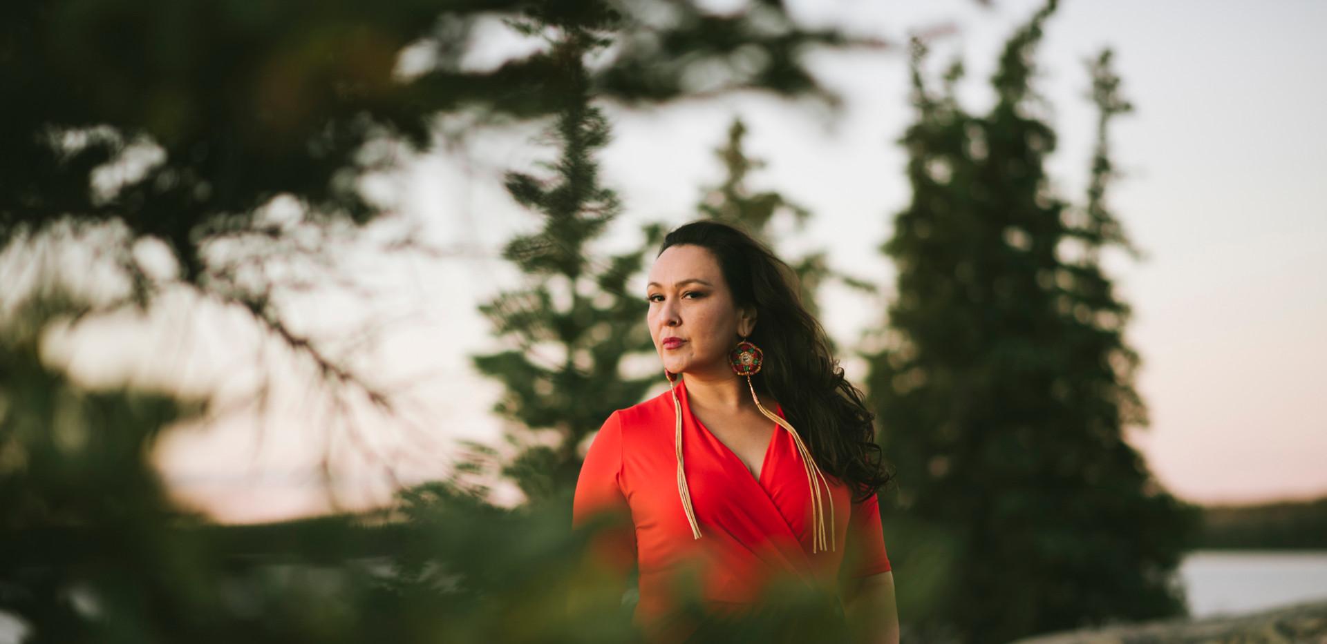 Leela Gilday - Red Dress Forest