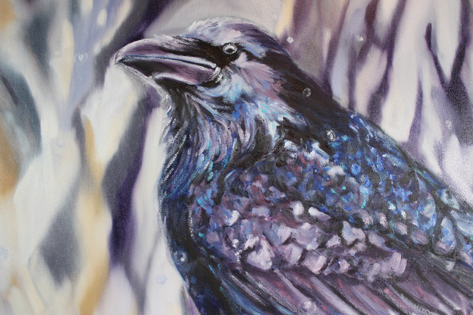 Rainy Day Raven - Detail 3