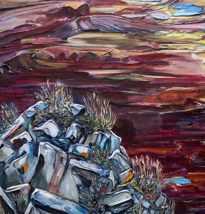 Atop Garnet Ridge - Detail 1