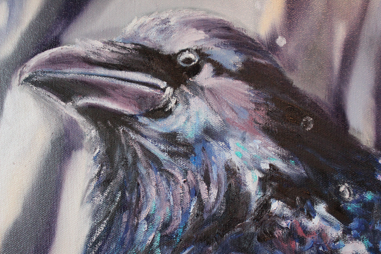 Rainy Day Raven - Detail 2